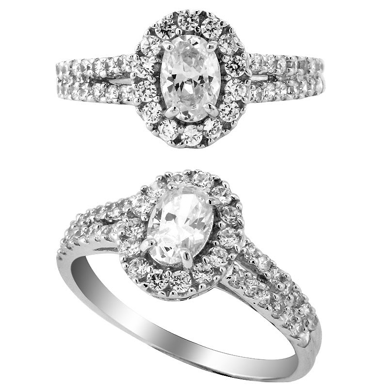 Fancy Stone Engagement Ring