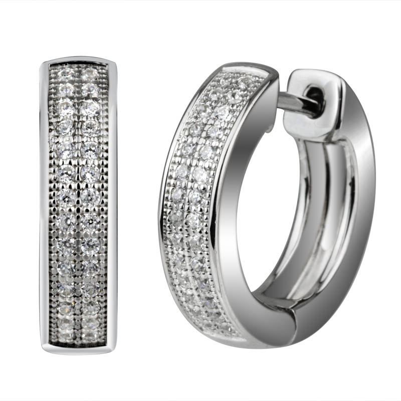 Hoop Earrings With CZ