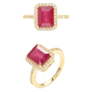 Octagonal Ruby Ring