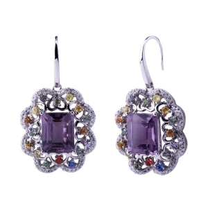 Rhodium Plated Earring