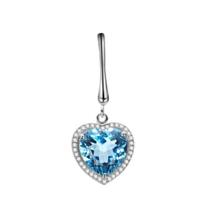 Natural Blue Topaz Stone Pendant