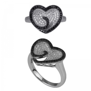 Sink Heart Shape Ring