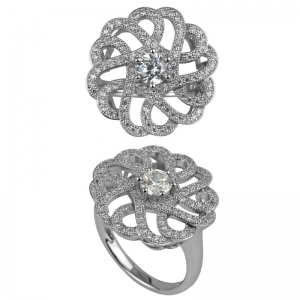 Six Prongs Knot Ring